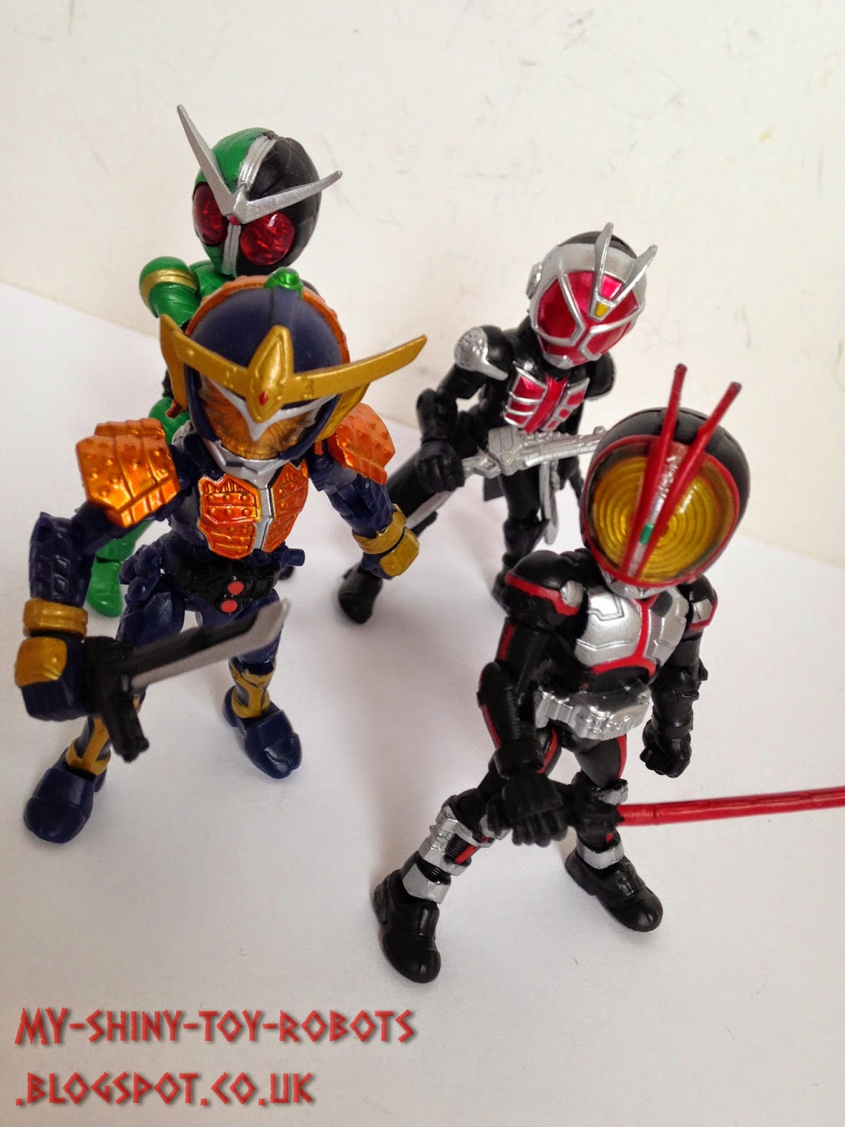 With fellow Heisei Riders