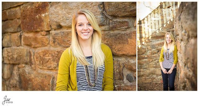 Downtown Lynchburg Fall Senior Session Liberty University
