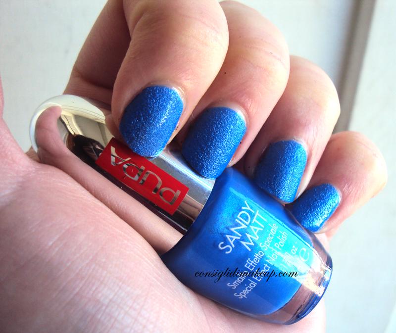 smalto effetto speciale sandy matt 001 blue pupa milano