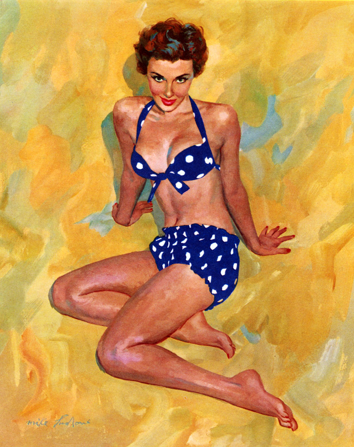Mike Ludlow 1921-2010 | American Glamour Pin-up illustrator