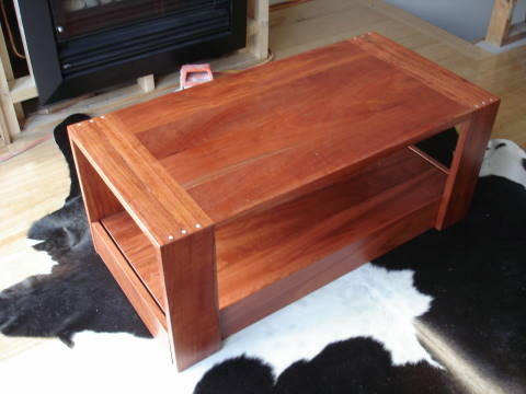 Rough Edge Art redgum dining table coffee table and side board