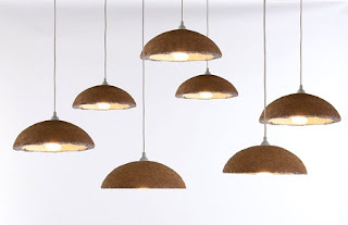 Silla y Lampara hechos con Hongos, Muebles y Accesorios con Materiales Naturales