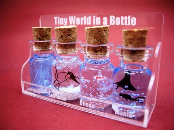 awesome miniature bottles art