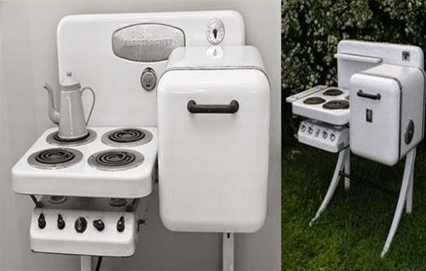 El frigorífico / estufa que cuidaba el espacio