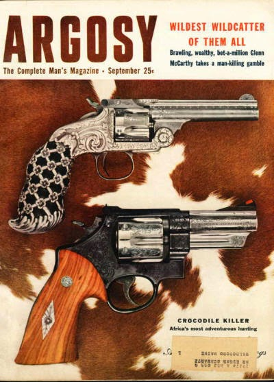 ARGOSY magazine, September 1954 - Crocodile Killer
