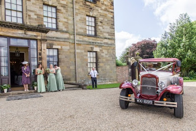 Ormesby Hall, the Bride arrive in her wedding car