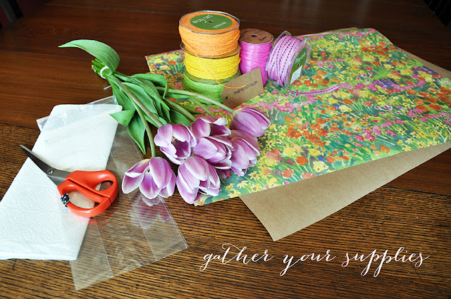 Creative Bag floral packaging ideas using wrapping paper