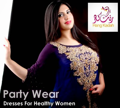 Party Wear Dresses For Healthy Women - Rang Kadah Plus Size Formal ...