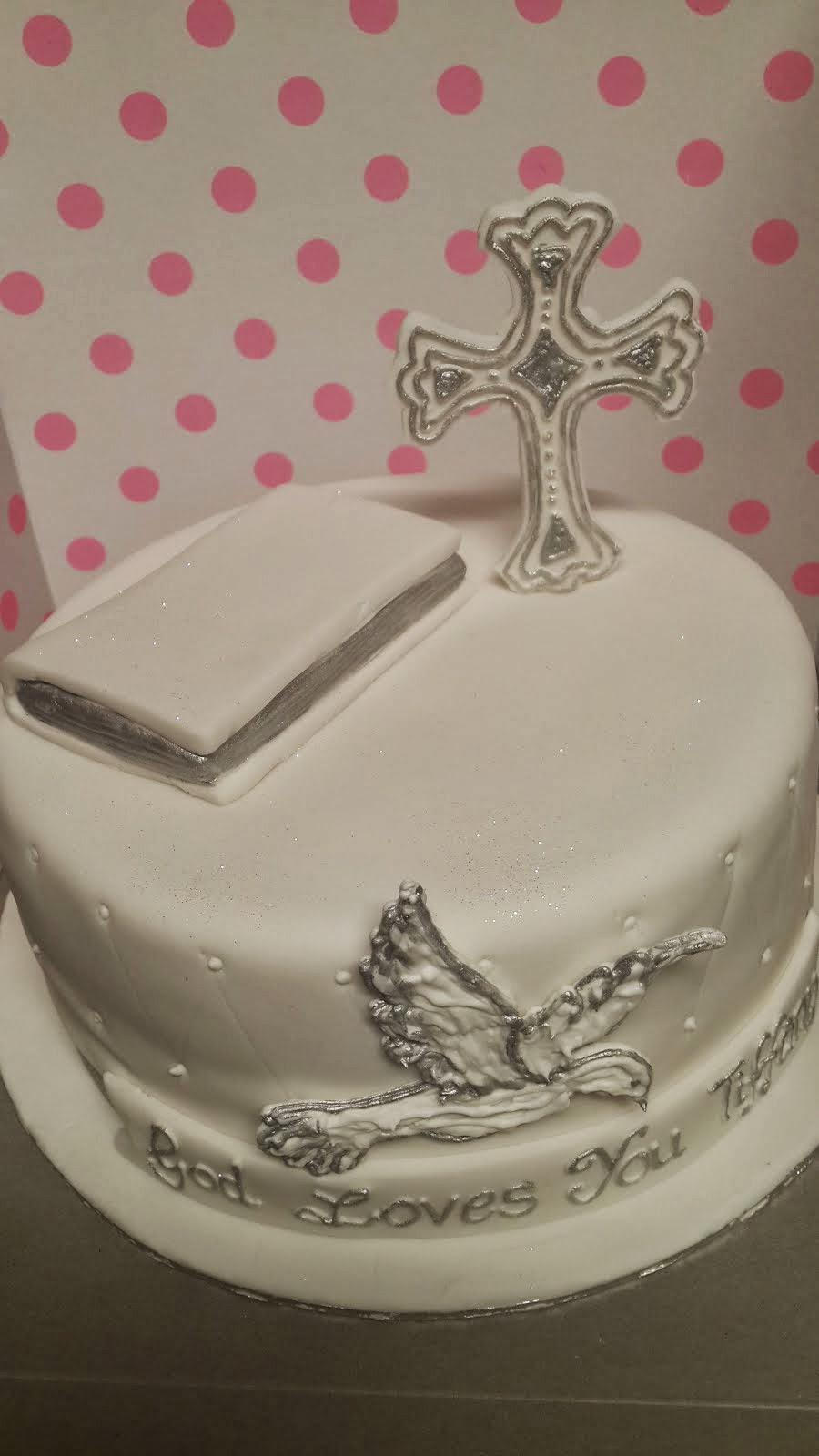 Confirmation Cake (White Dove)