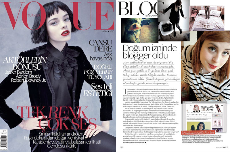 VOGUE (Turkey) - 2010 - Mademoiselle Robot