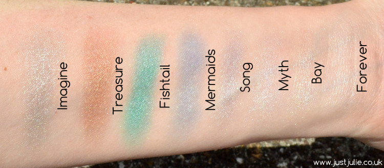 Makeup Revolution Mermaids Forever Eyeshadow Palette Review