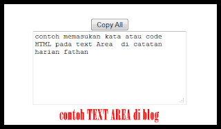 Cara membuat Text Area di blog