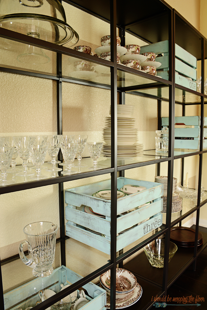 Dining Room Shelving: a fun alternative to china cabinets