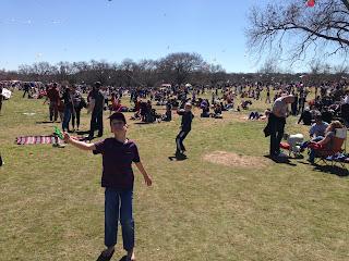 Kite Day in Austin with children