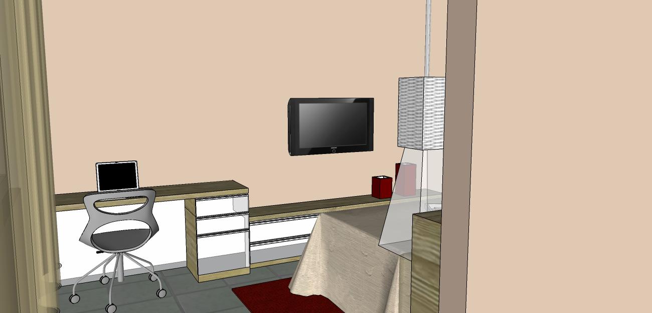 Decoração de Interiores Casa QUARTO DE CASAL COM CLOSET