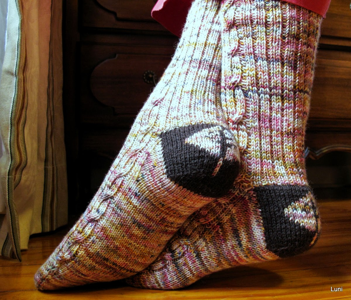 Double Knit Sock Pattern : 3 Sleeves to the Wind: Double Knit Sock Heels Pattern