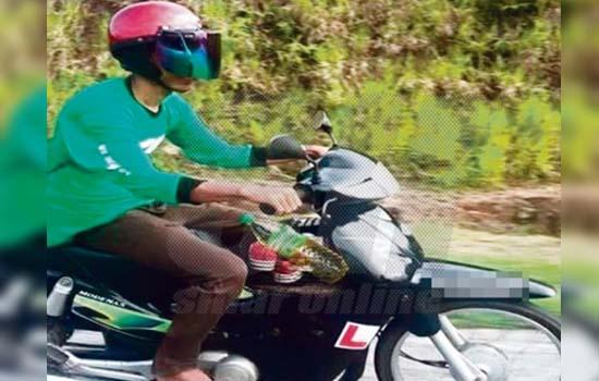 Lelaki ini naik motor sendirian selama 8 jam demi menyertai Himpunan Fastaqim