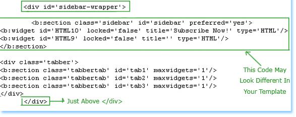 Tabbed Widget di Sidebar Blog