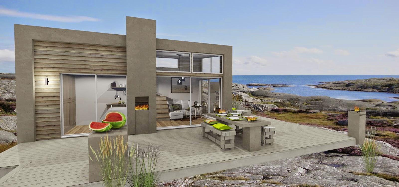 Den vita drömgården: firar sommaren med ett modernt attefallshus