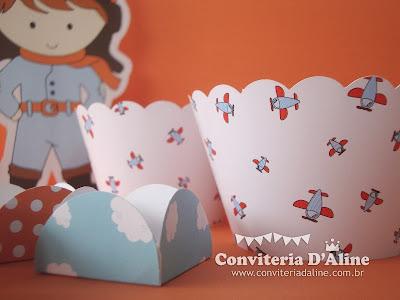 Wrappers Forminhas Personalizados Festa Aviador