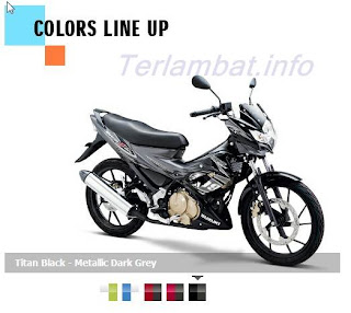 Satria FU 150 warna Hitam Metalik (metalik dark grey)