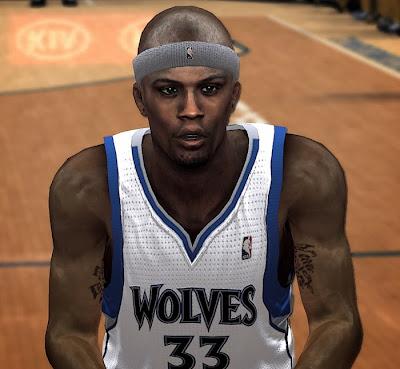 NBA 2K14 Dante Cunningham Cyberface Mod
