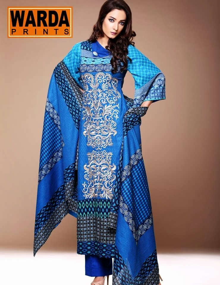 WardaPrintsFall WinterCollection2014 2015 wwwfashionhuntworldblogspotcom 007 - Winter Collection 2014  By Warda Prints vol  2