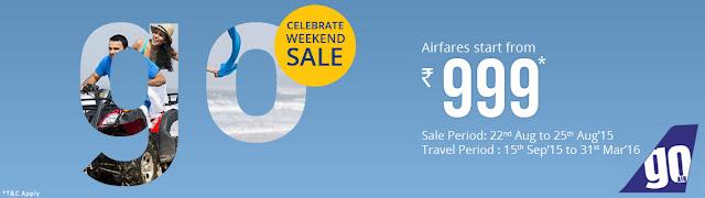 GoAir Weekend Sale....aksharonline.com Ghatlodia Ahmedabad