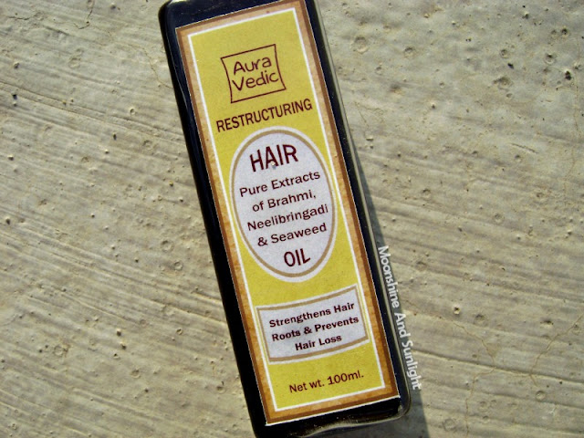 Aura Vedic RESTRUCTURING Hair Oil Review