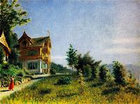 Lo chalet di villa Ada sul Lago Maggiore,  1871 - Ranzoni