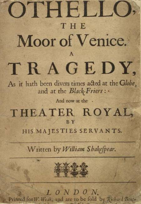 the virtue of desdemona in william shakespeares play the tragedy of othello Bethel philip the most tragic is othello in the play romeo and juliet they both  died for love and trust but in the case of othello, he killed desdemona.