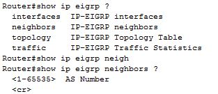 show ip eigrp neighbors command