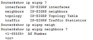 show ip eigrp neighbors command