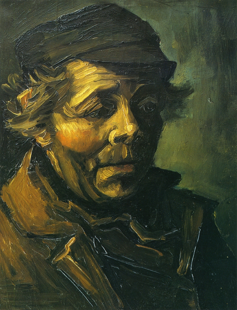Head of a Peasant with Cap (F 160a, JH 563) by Vincent van Gogh