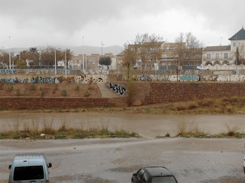 Rio Palancia un día antes de la riada, domingo 22 de marzo
