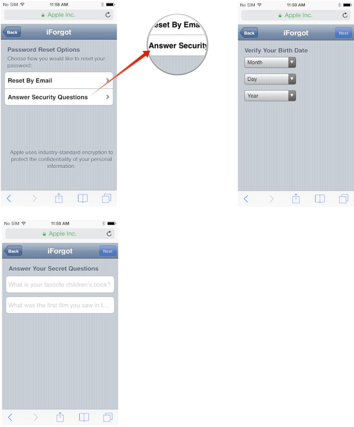 How To Reset Your Apple Id Password Using Secret Questions