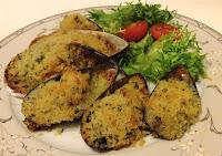 мидии, морепродукты, чеснок, чесночное масло, мидии в панировке, мидии в ракушках, новозеландские мидии