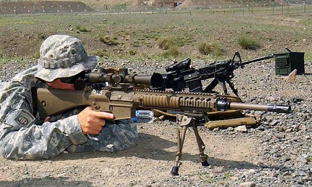 M110 7.62 × 51mm Suppressed American Sniper Rifle ~ HOT ... M110 Sniper Rifle Suppressed