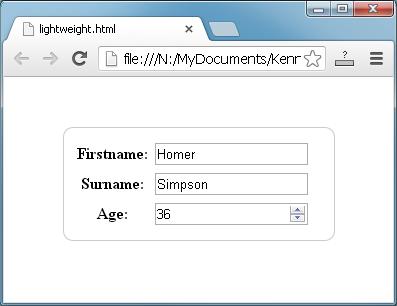 lightweight json to user interface ui generator
