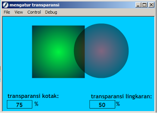 dua buah objek yang sudah di transparansi
