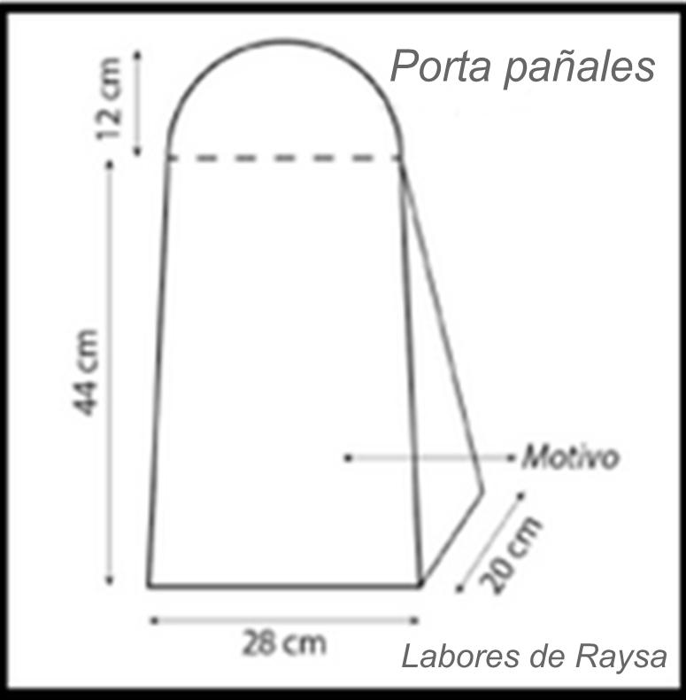 LABORES DE RAYSA: PORTA PAÑALES CONEJITO Y PATRÓN
