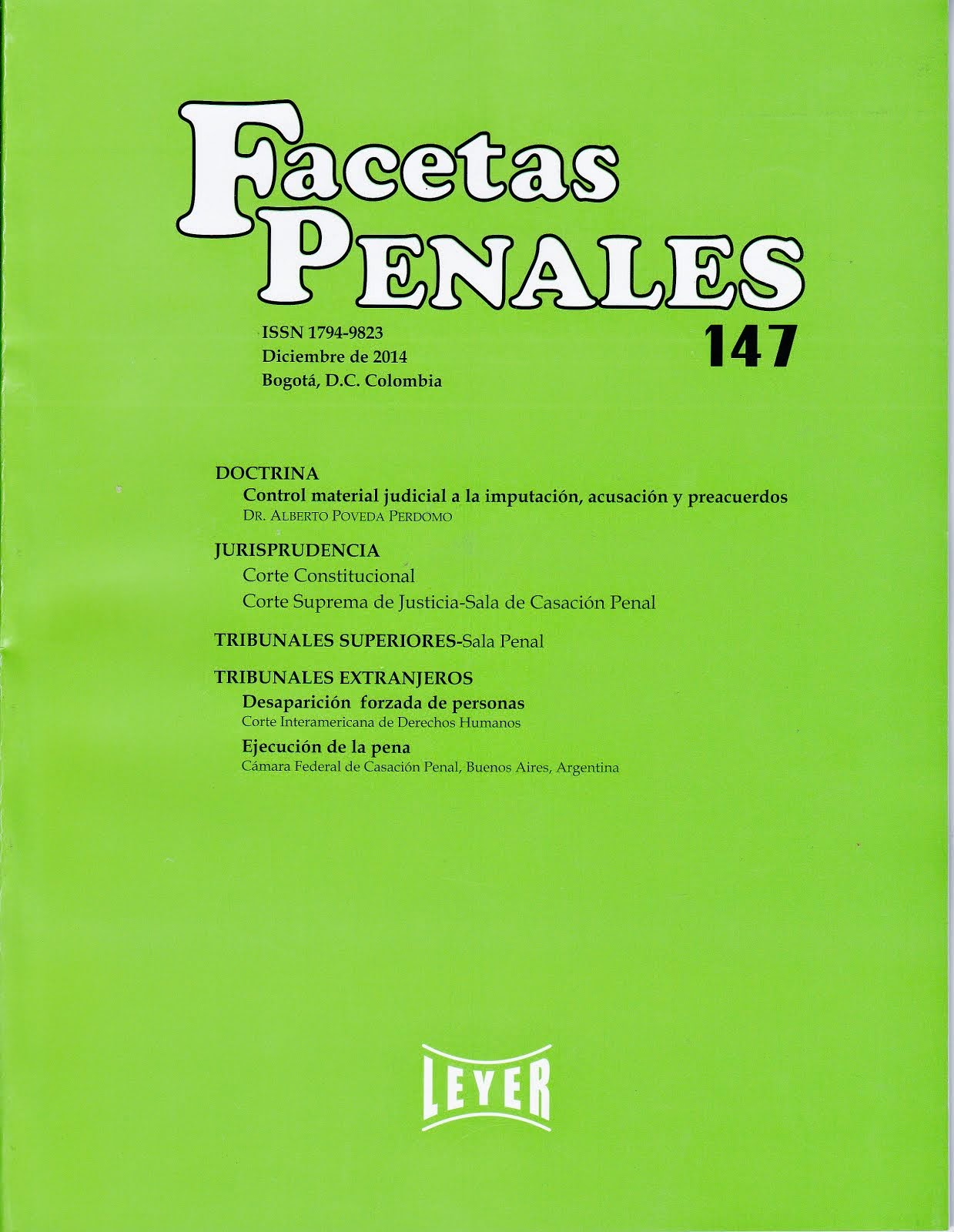 FACETAS PENALES 147