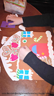 Gingerbread House Place Mat Craft