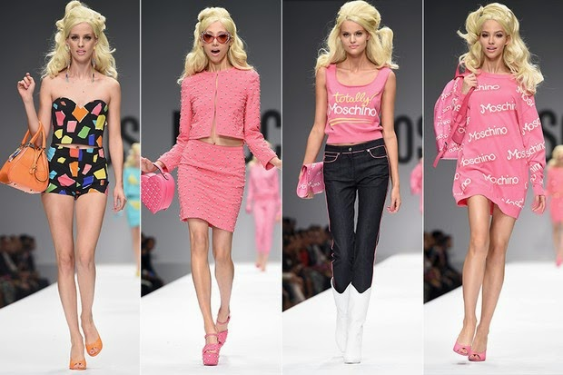 Moschino apresentou sua coleção primavera-verão e levou outro ícone para a passarela: a boneca Barbie