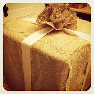 burlap wrapping
