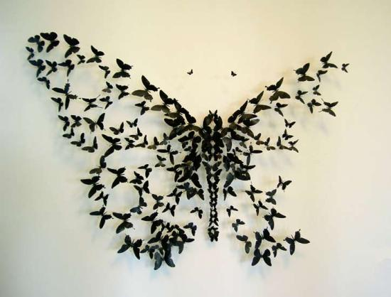 INFORMATION AT INTERNET: Amazing Wall Design With Butterfly Decor.