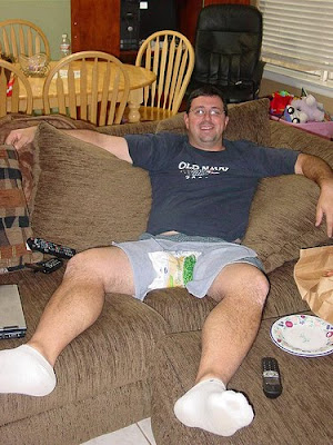 My friend Tim, day after his vasectomy ~ by TheSimple1