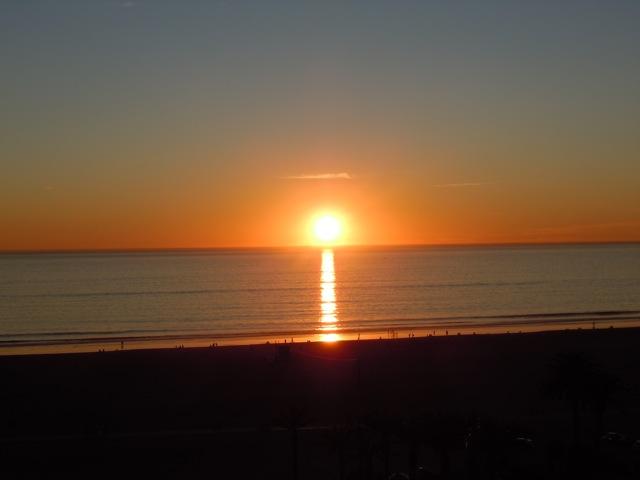 Santa Monica shoreline sunset