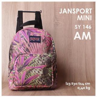 jual online Tas Ransel Jansport Mini Polos Terbaru dan Termurah - SY 146