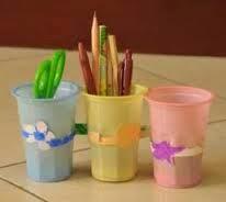 cara mudah membuat kotak pensil dari botol bekas